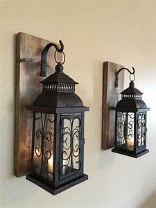Lantern pair wall decor sconces bathroom by