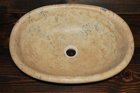 stone vessel sinks cheap scabos beige oval stone vessel sink