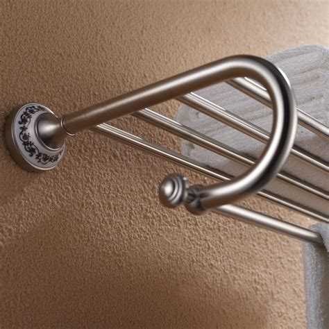 kraus apollo bathroom accessories bath towel rack with