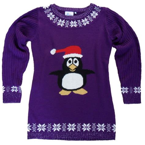 Christmas Jumper   Party Penguin Jumper Dress   IWOOT
