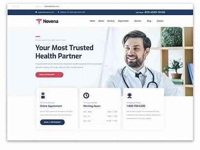 Website Medical Templates Template Themefisher Layout Novena