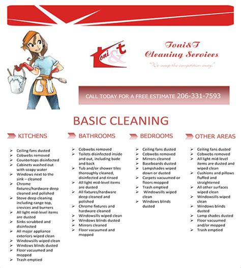 house cleaning flyer templates  word psd eps