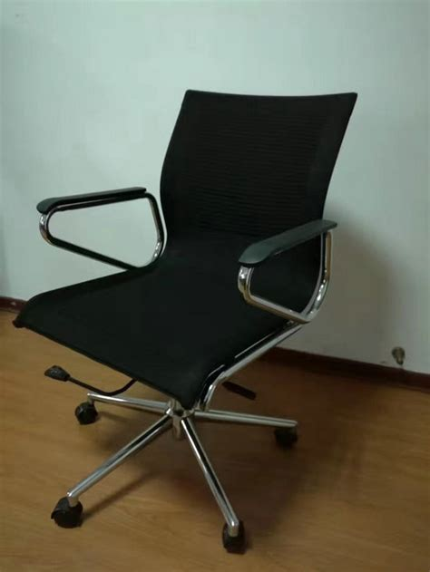 new style pu leather office swivel chair metal frame arm