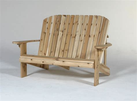 cedar adirondack loveseat buy adirondack chairs
