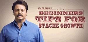 Ron Swanson Mus... Manly Moustache Quotes