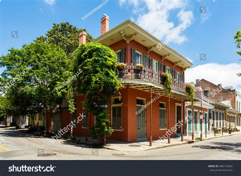 Beautiful Architecture French Quarter New Orleans Stock