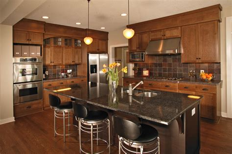 Oak Cabinets With Granite Countertops Kitchen Craftsman