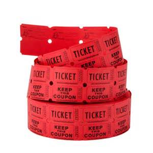 Red Raffle Tickets