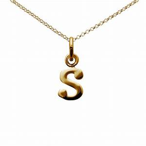 Gold letter s necklace from lily charmed for Gold letter charms for necklaces