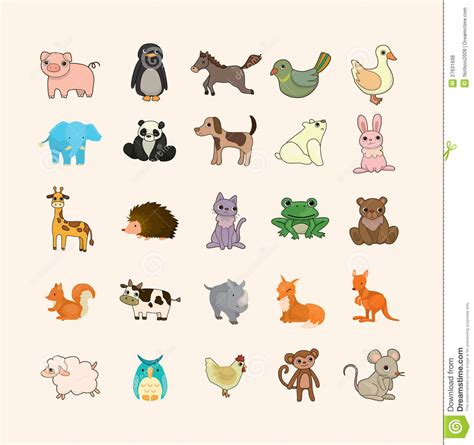 set  animal icons royalty  stock  image