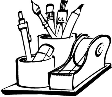 coloriage bureau coloriages materiel de bureau