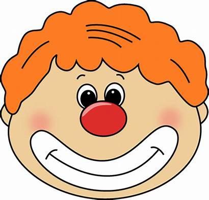 Clown Face Clipart Clip Nose Faces Circus