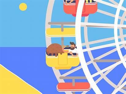 Ferris Animated Santa Monica Gifs Dribbble James