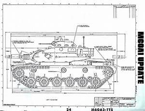Drawn Tank M60 Tank