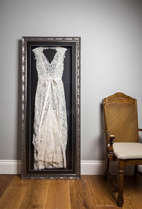wedding dress frame ideas  preserve  precious memories