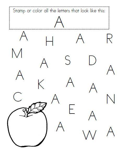 Great For Prek Letter Recognition!  Printables  Pinterest  Pre School, Alphabet Worksheets