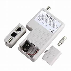 New Remote Rj11 Rj45 Usb Bnc Lan Network Cable Tester For
