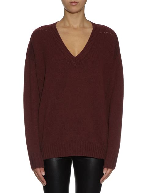 marant sweater lyst étoile marant marly v neck knit sweater in
