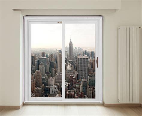 patio door roller blind a view of new york city