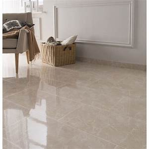 carrelage sol et mur beige effet marbre olympie l30 x l With leroy merlin peinture carrelage sol