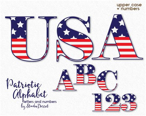 Letter Usa by Patriotic Letters Usa Alphabet Cliparts Usa Letters
