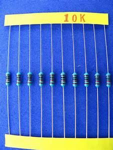 1000pcs 10K Ohm 1% 1/4W Metal Resistor, 0.25W 10K - 1/4W ...  10k