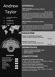 Cv Internship Template Dark Word Architect Resume Cv Template Architect Resume