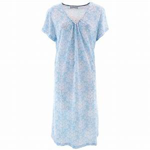 Sag Harbor Blue Damask Nightgown for Women