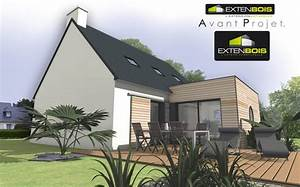Kit Extension Bois Toit Plat : extension toit plat d une maison en ille et vilaine 35 extenbois l extension bois pour ~ Farleysfitness.com Idées de Décoration