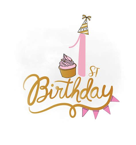 You can download this svg images for free. 1st Birthday SVG clipart baby girl Birthday Quote Birthday