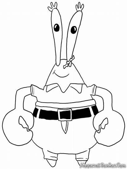 Gambar Tuan Krabs Untuk Spongebob Diwarnai Anak
