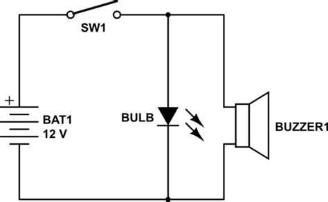3 5 v christmas lights circuit design how to connect a bulb and buzzer to be