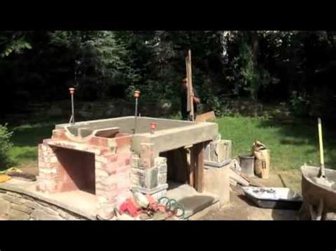 wood pizza oven outdoor fireplace combo build youtube