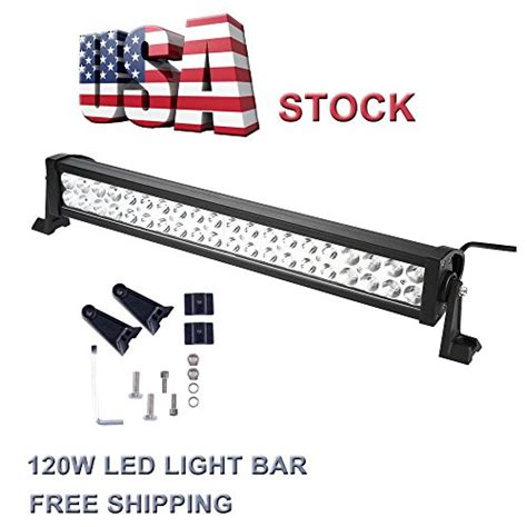 topcarlight 24inch 120w led work light bar flood spot