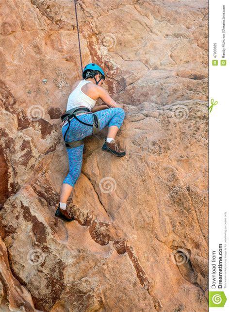 Female Mountain Climber Woman Stock Photo Image 47933669