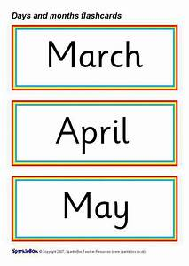 Days And Months Flash Cards  Sb1017