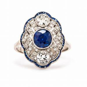vintage sapphire and diamond engagement rings wedding With vintage engagement ring and wedding band