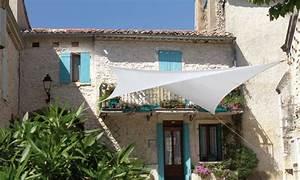 Toile Extérieure Pour Terrasse : bache triangle terrasse parasol triangle toile chromeleon ~ Melissatoandfro.com Idées de Décoration