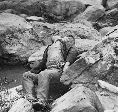 Gettysburg Battle Civil War Dead Round 1863