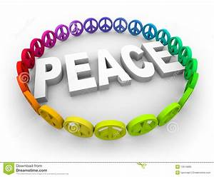 Peace Symbols Around The Word Royalty Free Stock Photo ...