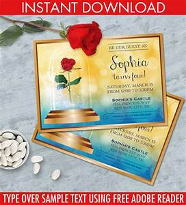 beauty the beast invitation belle birthday party With diy beauty and the beast wedding invitations