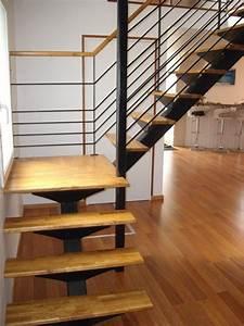 Escalier Bois Quart Tournant : escalier metal bois quart tournant ewx99 slabtownrib ~ Farleysfitness.com Idées de Décoration