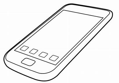 Drawing Cellphone Clipart Phone Transparent Webstockreview