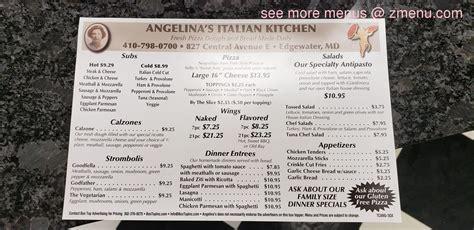 menu  angelinas italian kitchen restaurant
