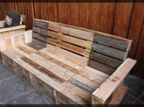 plan canapé bois photos canapé en bois de palette