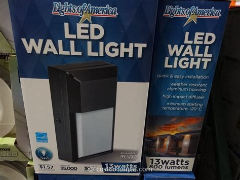 lights of america led outdoor wall light
