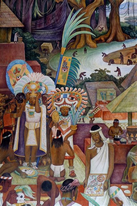 diego rivera mural in the national palace mexico city depicts zapotec and mixtec culture in