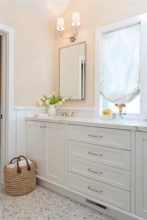 white  cream bathroom design transitional bathroom