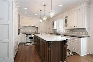 31 QuotNewquot Custom White Kitchens With Wood Islands
