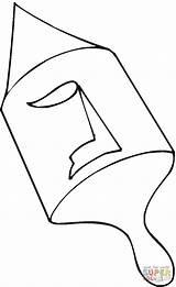 Dreidel Coloring Printable Drawing sketch template